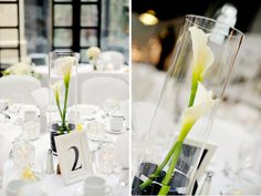 As a table center piece but with black lillys instead Calla Lillies Centerpieces, Black Centerpieces, Table Centerpieces, Wedding Centerpieces, Wedding Decorations, Centrepieces, Table Decorations, Summer Wedding, Wedding Day