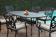 CBM Outdoor Cast Aluminum Patio Furniture 7 Pc Dining Set G CBM1290 * Read more at the image link. (This is an affiliate link) #OutdoorFurniture