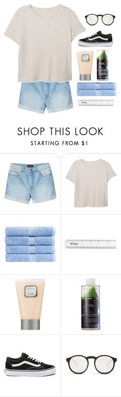 """""""♡ for what it's worth, it was worth all the while"""" by friendly-fires ❤ liked on Polyvore featuring Monki, MANGO, Christy, Laura Mercier, Korres, Vans and Le Specs"""