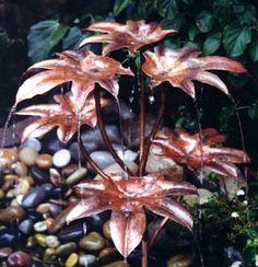 Castor Oil Tree copper fountain