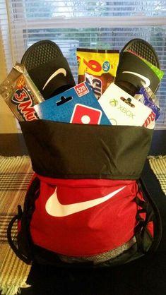 "Easter ""basket"" for a teenager #boyfriendbirthdaygifts"