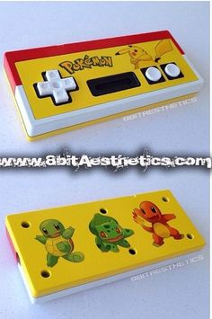 Pokemon NES Controller with Pikachu, Bulbasaur, Charmander, & Squirtle! By 8bitAesthetics! Message us at www.8bitaesthetics.com to place your custom order!