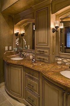 www.rejoyinteriors.com Master Bathroom Remodel by echkbet Tuscan Bathroom, Rustic Bathrooms, Dream Bathrooms, Beautiful Bathrooms, Modern Bathroom, Small Bathroom, Master Bathroom, Master Master, Shiplap Bathroom