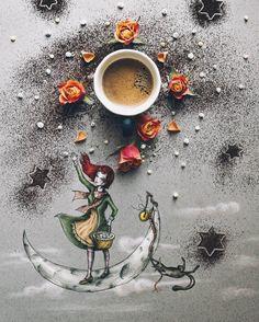 """Mi piace"": 1,655, commenti: 35 - Cinzia Bolognesi (@cuordicarciofo) su Instagram: ""'The girl of ink and stars' (A tribute)  Happy Friday friends  * * * #littlecoffeestories * * *…"""
