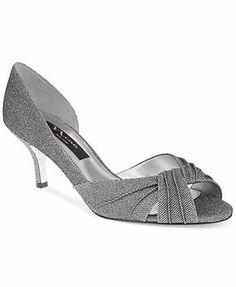 432c5e68fc72 Nina Carrie D Orsay Evening Pumps Mid Heel Shoes