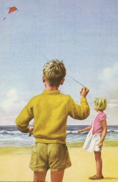 Flying kite on beach - Peter And Jane, Fun And Games