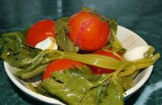 Roșii murate rapid - grădina mea 🌿 Seaweed Salad, Chicken, Meat, Ethnic Recipes, Food, Canning, Eten, Meals, Cubs
