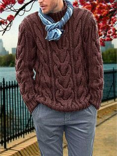 MADE TO order sweater hand knitted cardigan pullover men Men's clothing handmade crochet BRAIDS Crochet Braids, Sweater Cardigan, Men Sweater, Crewneck Sweater, Style Masculin, Winter Outfits Men, Warm Dresses, Hand Knitted Sweaters, Pulls