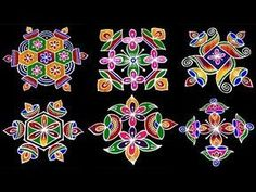 Very Easy Rangoli Designs, Indian Rangoli Designs, Rangoli Border Designs, Rangoli Ideas, Rangoli Designs With Dots, New Mehndi Designs, Beautiful Rangoli Designs, Lotus Rangoli, Small Rangoli