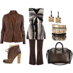Browns - Plus Size Fashion   Plus Size Fashion - My Polyvore