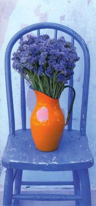 potted centerpieces wedding , purple, lilac, orange - Google Search