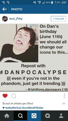 Next year, for Dan's birthday, we are doing this @etree89 #danpocalypse
