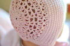 Aesthetic Nest: Crochet: Blessing Day Bonnet in Blush