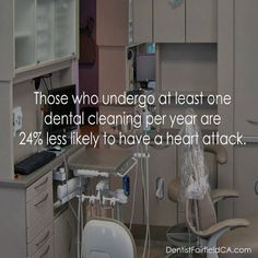 Those who undergo at least one #dental cleaning per year are 24% less likely to have a #heart attack.