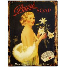 Pears Soap Tin Sign