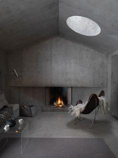 Refugi dil fieu, Switzerland, by AAM Architektin + greys + concrete