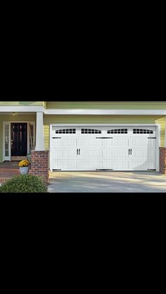 Amarr Short Panel Garage Door In True White With Prairie