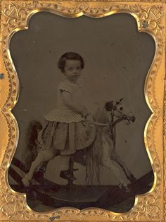 "1/4 Plate Ambrotype "" Boy on Rocking Horse"" by Mirror Image Gallery, via Flickr"