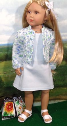 Pale Aqua Dress and Sweater fits Slim 18 Inch Dolls like Kidz N Cats by SugarloafDollClothes on Etsy https://www.etsy.com/listing/384427830/pale-aqua-dress-and-sweater-fits-slim-18