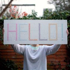 How to make your own giant cross stitch sign.