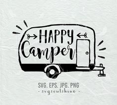 Happy Camper SVG Fil
