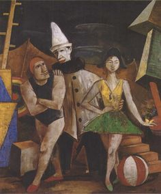 Circus People, 1921 Oil on canvas Karl Hofer