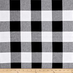 """Cotton Steel Checkers Yarn Dyed Woven 2 1/2"""" Black from @fabricdotcom From Cotton Steel, this lightweight woven yarn dyed gingham fabric is extremely versatile. It can be used to create stylish summer dresses, children's apparel and blouses. It can also be used to make tablecloths, curtains and more! Checks measure 2 1/2''. Remember to allow extra yardage for pattern matching."""
