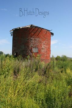 Old Brick Grain Bin Farming Photography Print Digital Photos Download Art by BHutchDesignStudio on Etsy