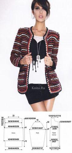 La chaqueta en el estilo Chanel. Los rayos