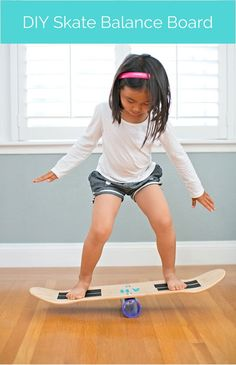 Make a balance board out of a skateboard deck and a few easy parts. This is so much fun for kids and strong enough for adults to use too! Games For Kids, Diy For Kids, Cool Kids, Balance Board, Skateboard Decks, Skateboard Party, Board Skateboard, Diy Toys, Outdoor Fun
