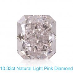 """A massive diamond, Weighing over 10cts this Naturally Colored Light Pink Diamond is only for the very wealthy. Radiant shape cut a great VS2 clarity, graded by GIA.   A wonderful Pink Diamond with an impressive appearance, perfect characteristics and lovely Rose color face up.  Excellent polish and Excellent symmetry. I would love to design and make a ring and enhance this center stone.. Courtesy of Leibish & Co.______Mark, Jeweller - Gemologist,  """"www.Buying Diamonds.Online"""" Loose Diamonds For Sale, Black Diamond Jewelry, Tiffany Jewelry, Simple Jewelry, Colored Diamonds, Clarity, Shape, Gemstones, Engagement Rings"""