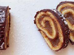Bûche de Noël facile à la crème de marron, chocolat et orange