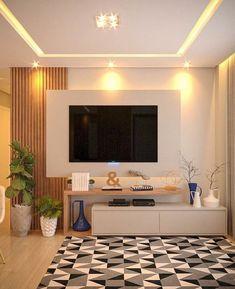 Home Design, Home Bar Designs, Home Building Design, Tv Unit Interior Design, Interior Ceiling Design, Hall Interior, Simple Living Room, Home Living Room, Living Room Decor