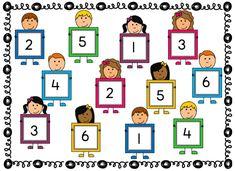 Doel van het spel Met dit spel oefenen de kinderen met het doel: 'Dobbelstenen 'lezen' zonder te tellen. Benodigdheden – per speler 5 fiches – spelbord – dobbelsteen met stippen Spelregels – De spelkaart wordt in het midden gelegd. – Om de beurt wordt er met de dobbelsteen gegooid. – De speler telt het aantal stippen en legt een fiche op hetzelfde cijfer. –