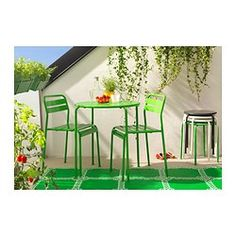 ROXÖ Table - green - IKEA - for the kids' own corner of the deck :)