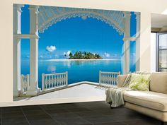 A Perfect Day Balcony Huge Wall Mural Art Print Poster Wallpaper Mural at AllPosters.com