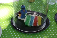 Cookie Monster Party  Rainbow cake