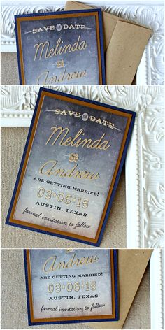 Starry night wedding save the date magnet | Sunshine and Ravioli