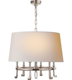 Visual Comfort Thomas OBrien Calliope 6 Light Hanging Shade in Polished Nickel TOB5135PN-NP #lighting - Dinning 24""
