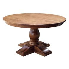Chateau Solid Wood French Country Dining Table Shown In Brown Maple Furniture, Dining Room Renovation, Round Pedestal Dining Table, Round Pedestal Dining, Table, French Country Dining Table, French Country Tables, Dining Room Style, Furniture Vancouver