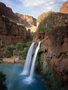 Havasu Falls-One of the Top 10 places to swim, in the world...and the water is that beautiful!