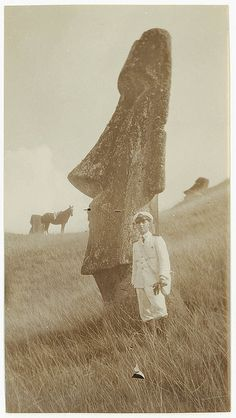 Statue, Easter Island, ca. 1930. State Library of New South Wales collection. #EasterIsland