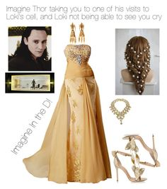 """Imagine Thor taking you to one of his visits to Loki's cell, and Loki not being able to see you cry"" by handfulhannah ❤ liked on Polyvore featuring Erickson Beamon and KOTUR"