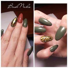 Nails Army Green