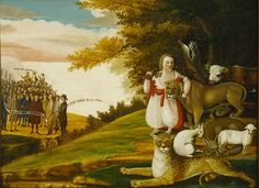 A Peaceable Kingdom with Quakers Bearing Banners 1829-30 Edward Hicks - Edward Hicks - Wikipedia, the free encyclopedia