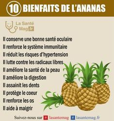 Les 10 bienfaits de l'ananas #nutritioneducationfitness