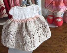 Hand Knitted Dress for Teddy Bear