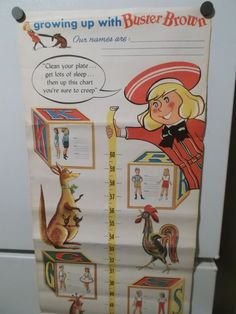 1950's BUSTER BROWN GROWTH CHART #BusterBrownShoes