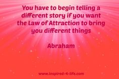 Tell a different story!
