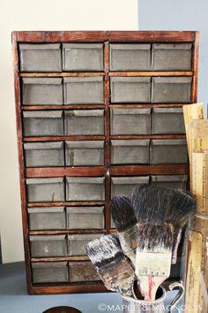 Galvanized drawers